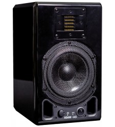 ADAM A5 Active Nearfield Monitor, Glossy Piano Black (Single)