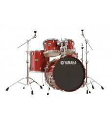 Yamaha Stage Custom Drum Kit Complete with Hardware in Cranberry Red Lacquer