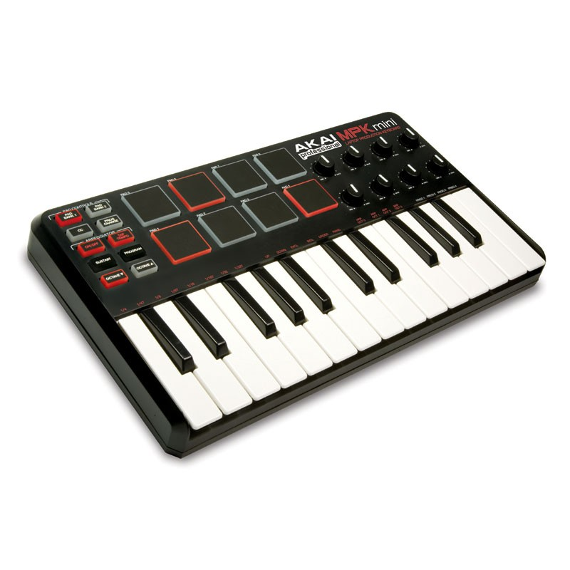Akai MPK Mini MIDI controller keyboard with mini keys and drum pads  
