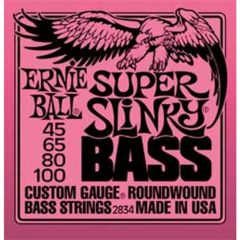 Ernie Ball Super Slinky Bass Guitar Strings 45-100 (3 pack)  