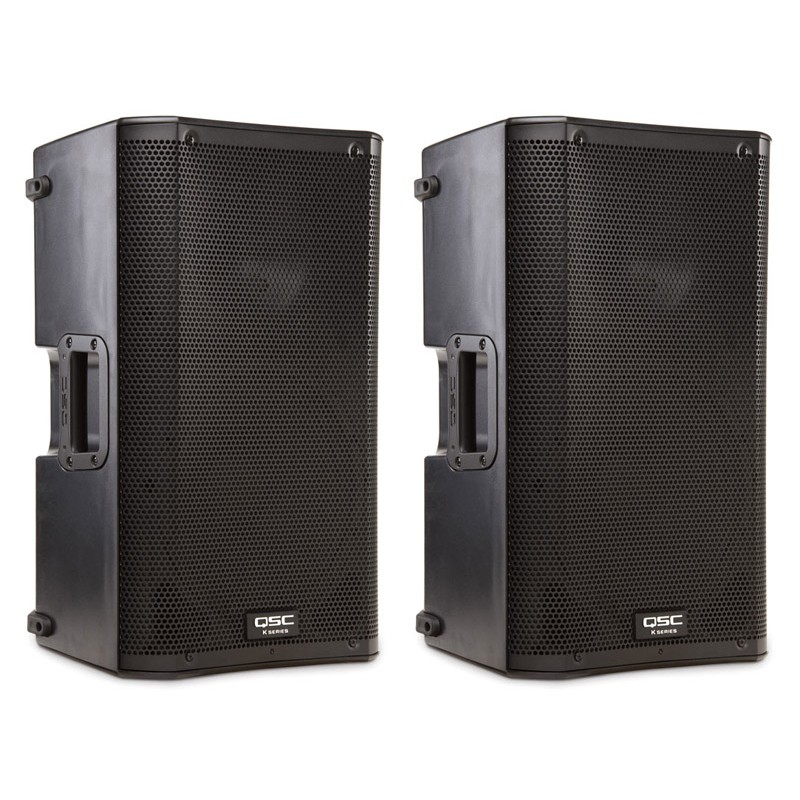 QSC K10 10 inch Active 2 Way PA speakers (Pair)