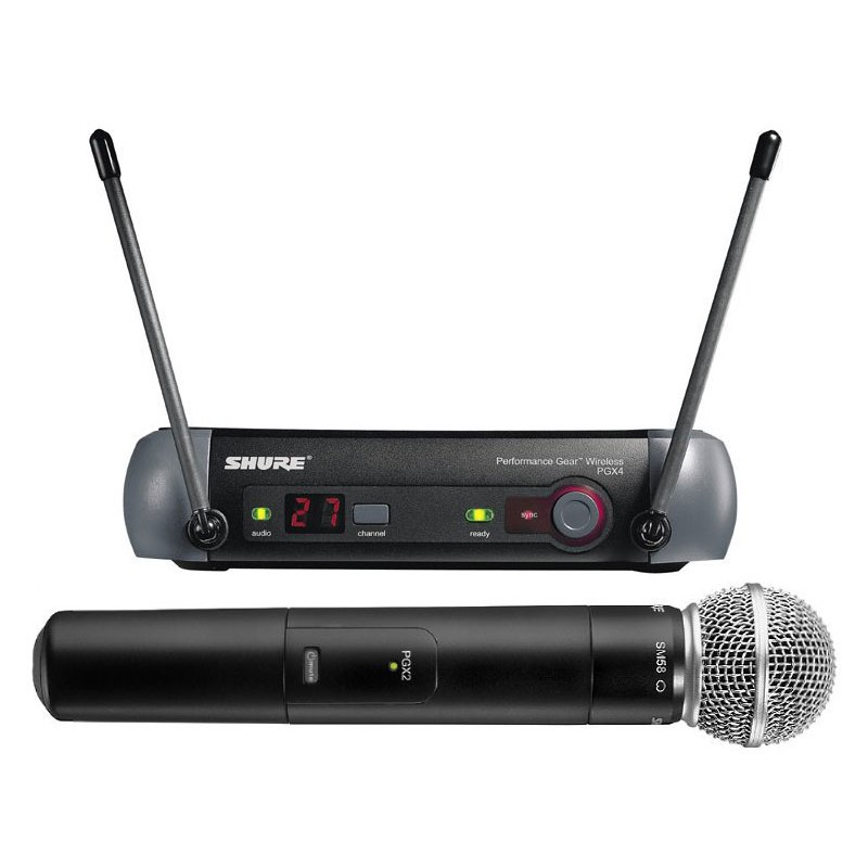 Shure PGX24/SM58 UHF Handheld Wireless Radio Mic System  