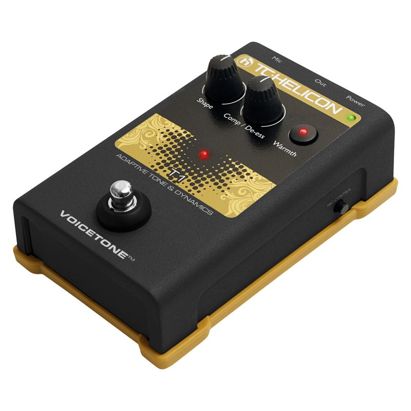 TC-Helicon VoiceTone T1 adaptive tone & dynamics pedal