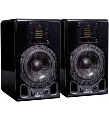 ADAM A5 Active Nearfield Monitor, Glossy Piano Black (Pair)