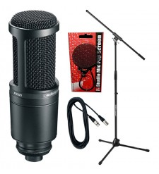 Audio Technica AT2020 Condenser Microphone Bundle 