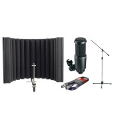 Audio Technica AT2020 Condenser Microphone and RF-X Reflexion Filter Bundle 