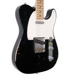 Fender Custom Shop Telecaster Pro Relic Electric Guitar, Black (pre-owned)