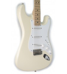Fender Eric Clapton Stratocaster Electric Guitar, Olympic White, Maple (Pre-Owned)