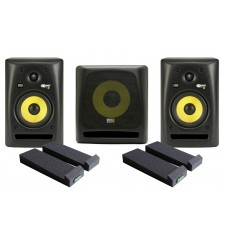 KRK RP5 G2 (pair) plus 10S Subwoofer, cables and Auralex MoPads