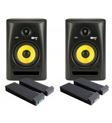 KRK RP6 G2 Active Monitors (Pair) with Auralex Mopads