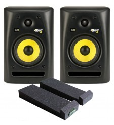 KRK RP8 G2 Active Studio Monitors (Pair) with Auralex MoPads