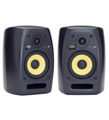 KRK VXT6 Active Studio Monitors (Pair) with Auralex MoPads