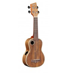 Boulder Creek RipTide US-11NS Soprano Ukulele, Solid Acacia Top