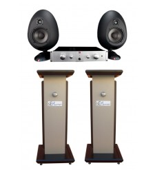 SE Munro Egg 150 Bi Amplified Studio Monitors (Pair) with Stands