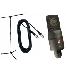 SE Electronics SE X1 condenser mic Bundle with stand and cable  