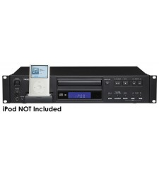 Tascam CD-200iB rackmount CD player with iPod dock & balanced connectors