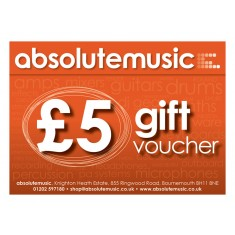 absolutemusic 5 Pound Gift Voucher