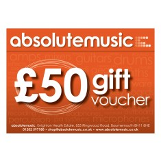 absolutemusic 50 Pound Gift Voucher