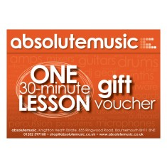 absolutemusic 30 Minute Music Lesson Gift Voucher