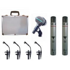 AKG Drumset Big 2 drum mic package (1 x D112, 4 x C518, 2 x C1000S)