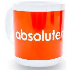 Absolute Music Mug, White/Orange