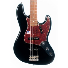 Fender American Vintage 62 Jazz Bass Guitar, Black, Rosewood (Pre-Owned)