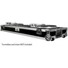 Road Ready RRDJ19W DJ coffin for turntables & 19 inch mixer, with wheels  (As New)