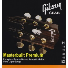 Gibson Masterbuilt Premium Phosphor Bronze Acoustic Guitar Strings 11-52 SAG-MB11  
