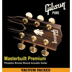 Gibson Masterbuilt Premium Phosphor Bronze Acoustic Guitar Strings 12-53  