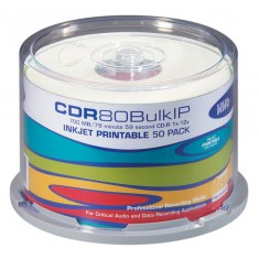 HHB Silver 80 minute CDR White, inkjet printable (Tub of 50)  