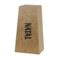 Natal CJBGLMB Natural Macha Burl Face Large Cajon Bongo