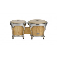 Natal NFU67N-MCN Fuego Natural Wood Bongos with Chrome Hardware in Natural