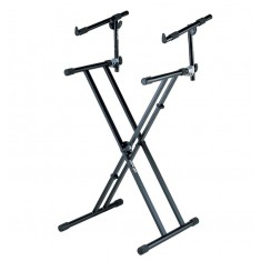 QuikLok QLX22 double-braced stand with fully adjustable 2nd tier
